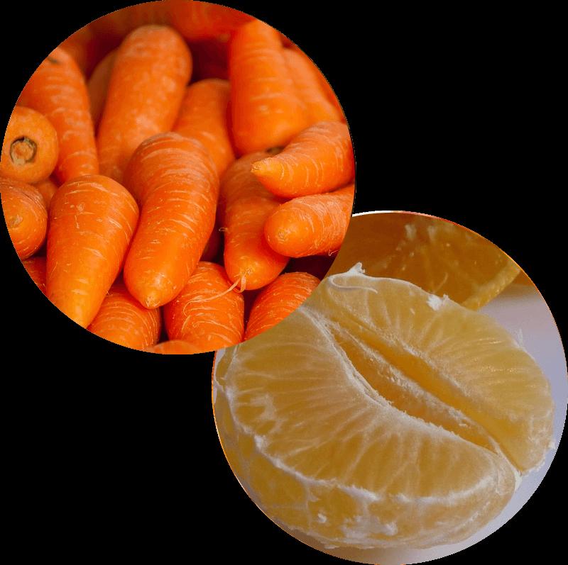 Pączek z marchwią i pomarańczą