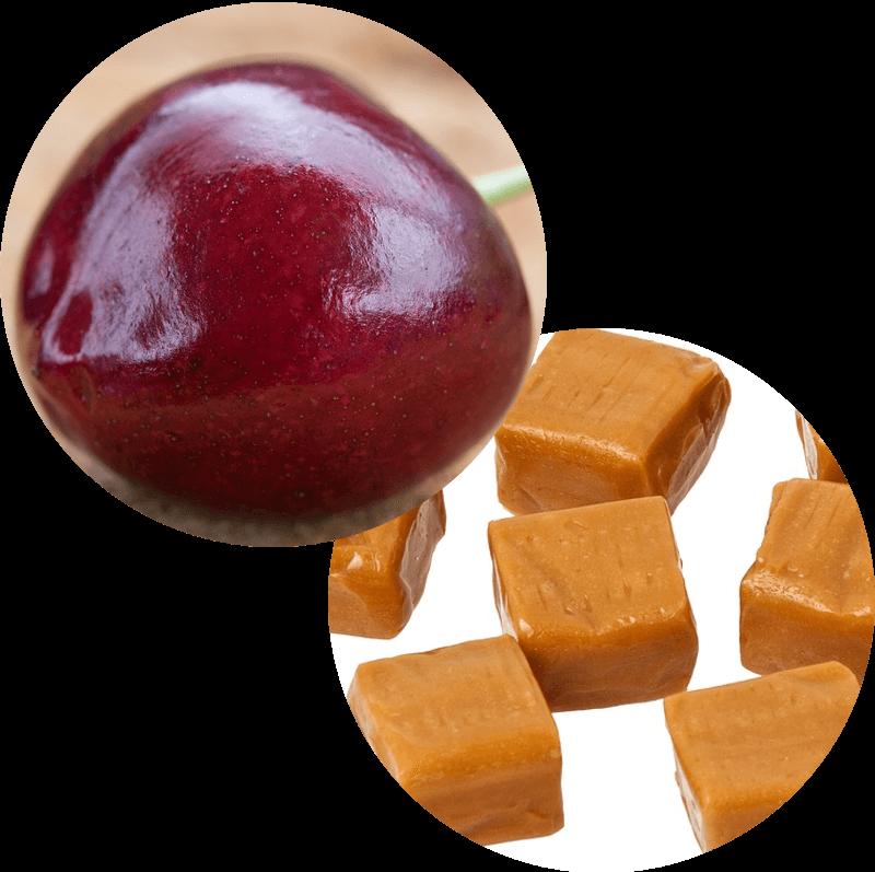 Pączek z wiśnią i rafaello